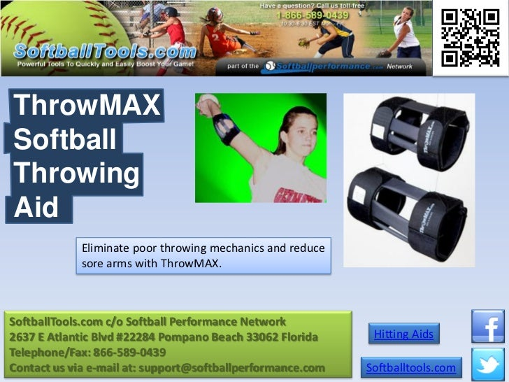 ThrowMAXSoftballThrowingAid             Eliminate poor throwing mechanics and reduce             sore arms with ThrowMAX.S...