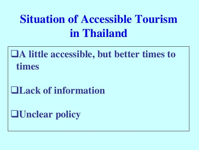 development of tourism in thailand This paper describes the growth rate of tourism industry in thailand, one of the countries in the asia-pacific region that successfully became the top foreign currency earner compared to other industrial sectors in 2002.