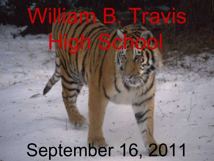 09/16/11 William B. Travis High School   September 16, 2011