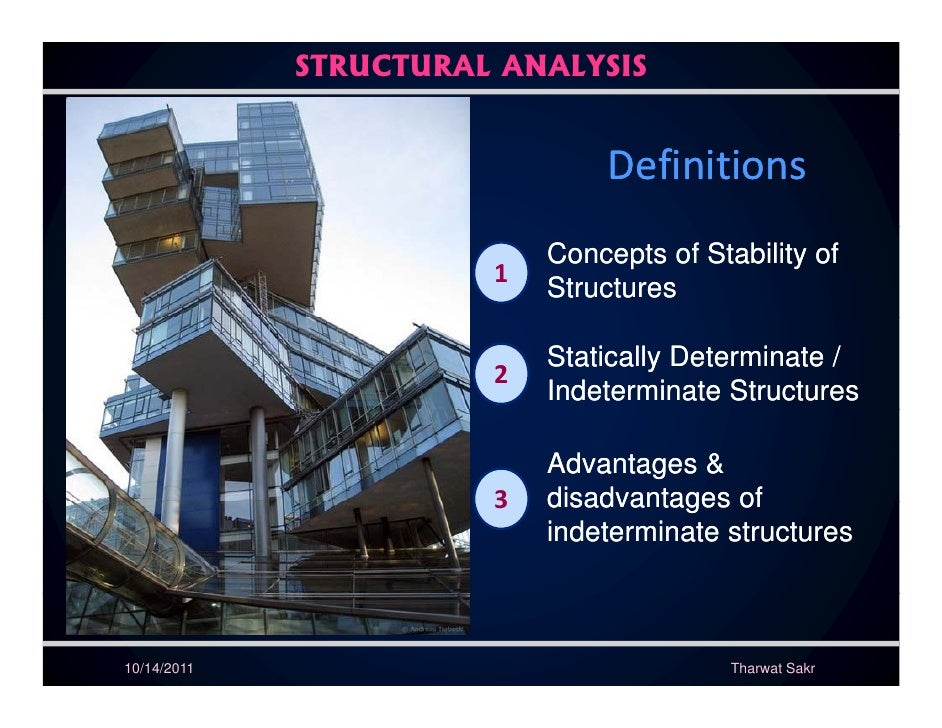 STRUCTURAL ANALYSIS                               Definitions                           Concepts of Stability of          ...