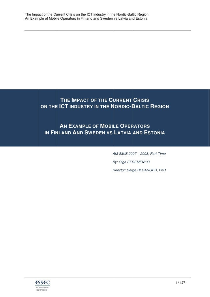 The Impact of the Cu                    urrent Crisis on the ICT in                                              ndustry i...