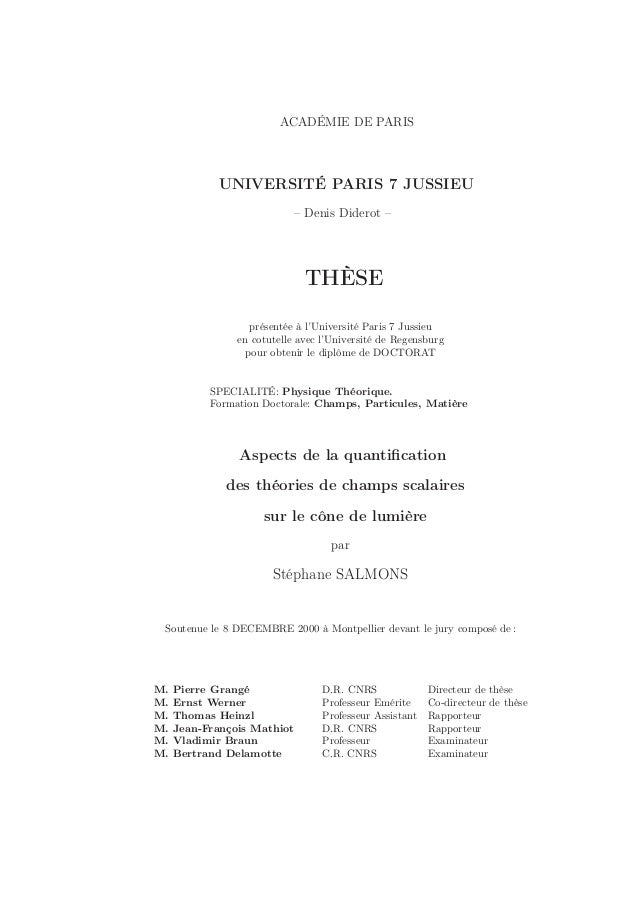 ACADÉMIE DE PARIS            UNIVERSITÉ PARIS 7 JUSSIEU                            – Denis Diderot –                      ...