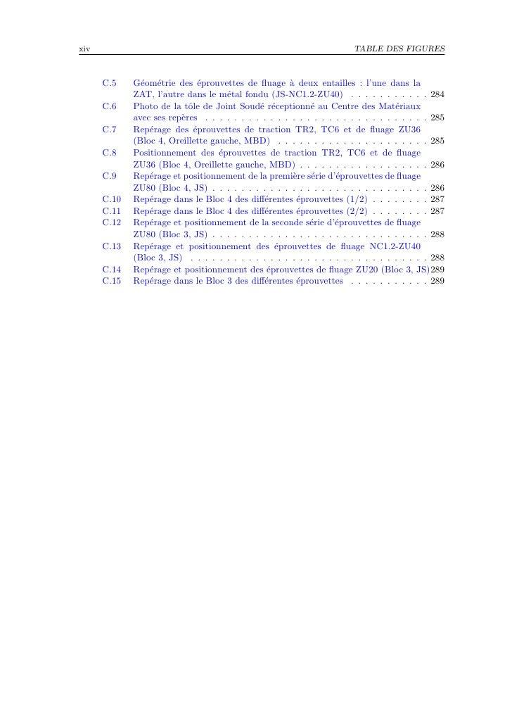 xiv                                                                    TABLE DES FIGURES          C.5    G´om´trie des ´pr...