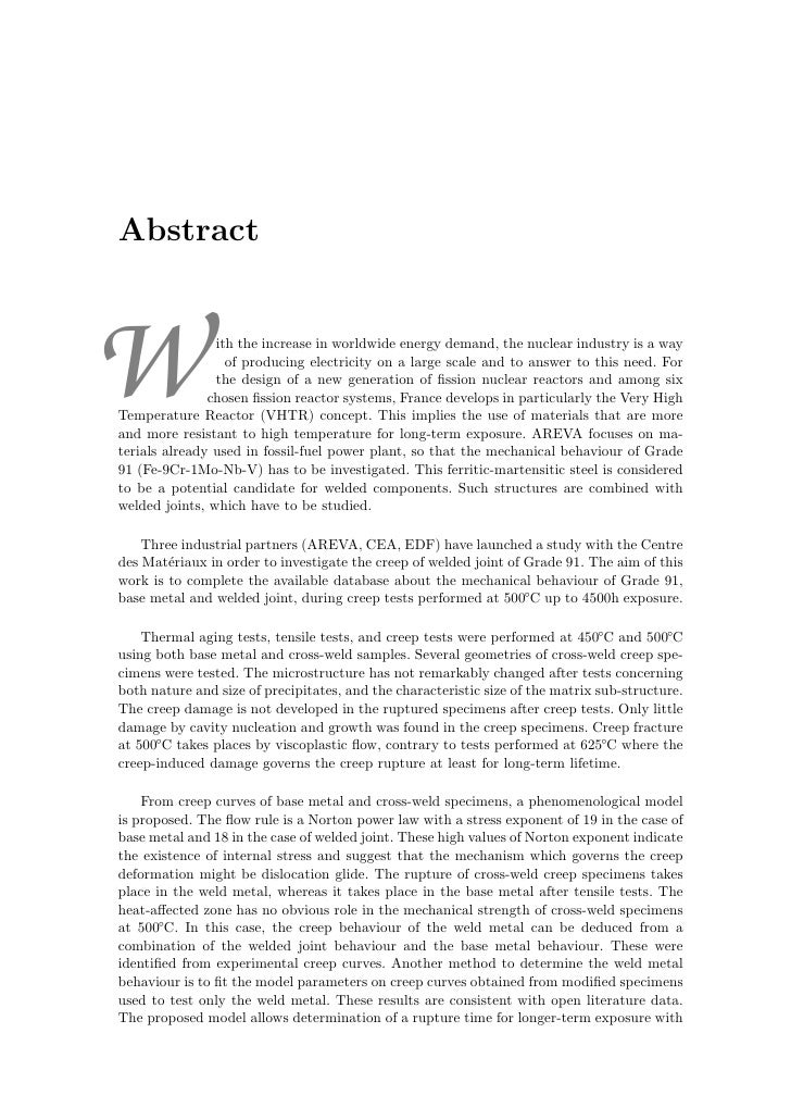 Abstract    W               ith the increase in worldwide energy demand, the nuclear industry is a way                   o...
