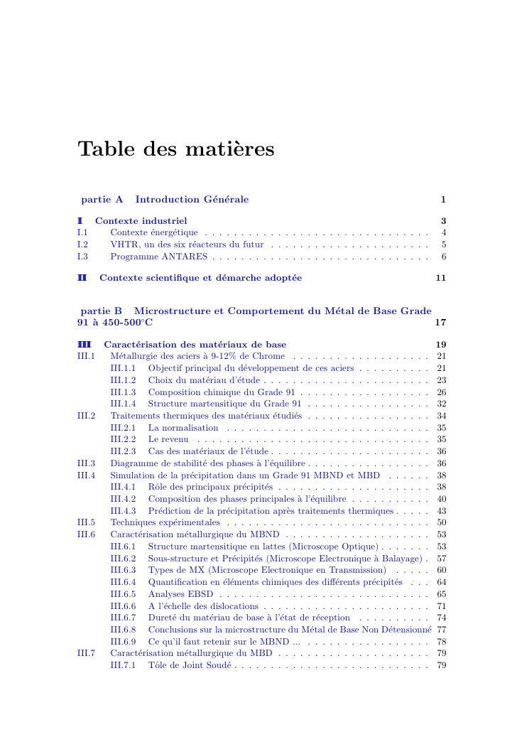Table des mati`res               e  partie A      Introduction G´n´rale                             e e                   ...