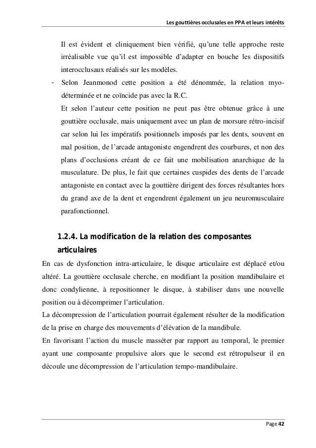 Les gouttières occlusales en PPA et leurs intérêts  Il est évident et cliniquement bien vérifié, qu'une telle approche res...
