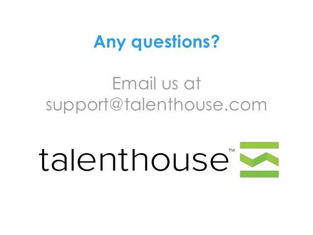 How to create a Talenthouse portfolio