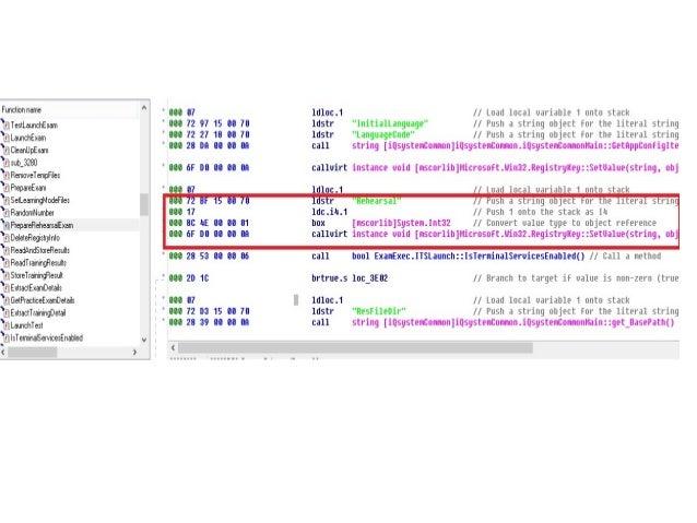 Cheat Score  — Sau Khi File ExamExec.dll kết thúc bài tập và lấy điểm  thi sẽ chuyển điểm sang RessultHandler.dll để show...