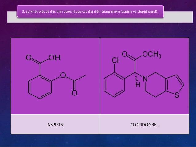 3. Sự khác biệt về đặc tính dược lý của các đại diện trong nhóm (aspirin và clopidrogrel).  Cơ chế tác dụng  Acid arachido...