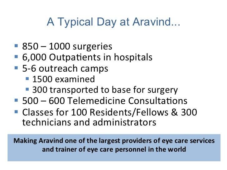 Aravind Eye Care System Eliminating Needless Blindless