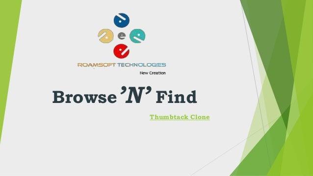 Browse'N' Find Thumbtack Clone