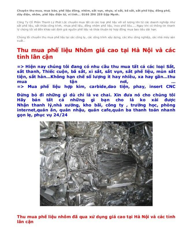 Chuyên thu mua, mua bán, phế liệu đồng, nhôm, sắt vụn, nhựa, xĩ sắt, bã sắt, sắt phế liệu, đồng phế,dây điện, nhôm, phế li...