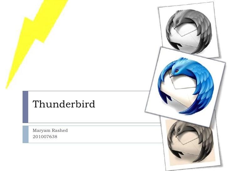ThunderbirdMaryam Rashed201007638
