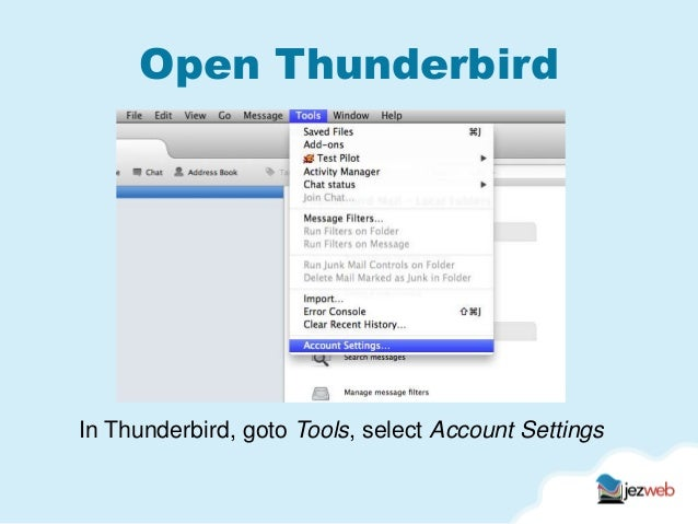Thunderbird imap settings Slide 2
