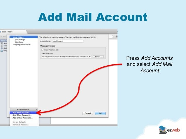 Thunderbird imap settings Slide 3