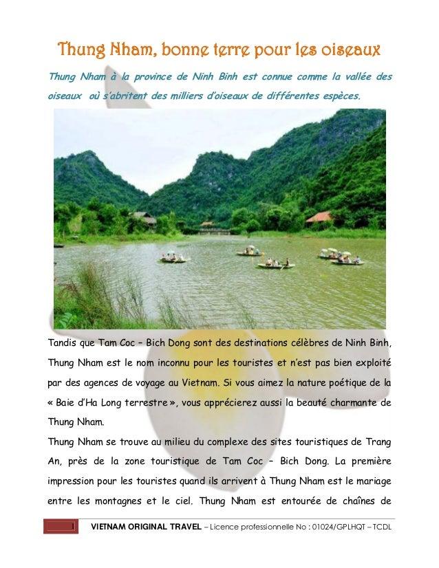 Thung Nham, bonne terre pour les oiseaux Thung Nham à la province de Ninh Binh est connue comme la vallée des oiseaux où s...