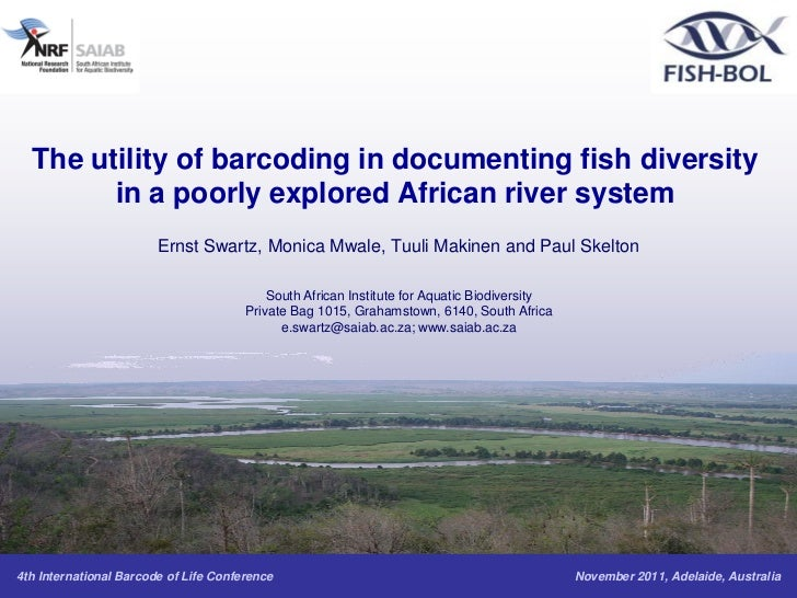 The utility of barcoding in documenting fish diversity        in a poorly explored African river system                   ...