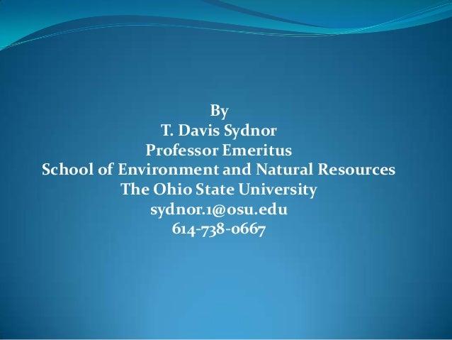 Environmental And Natural Resources Osu