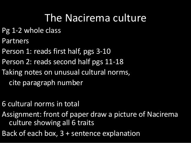symbols of the nacirema Start studying anth102: body ritual among the nacirema (american) learn vocabulary, terms, and more with flashcards, games, and other study tools.