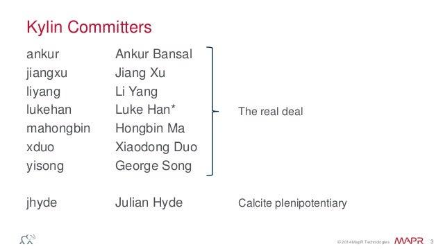 Apache Kylin – Cubes on Hadoop Slide 3