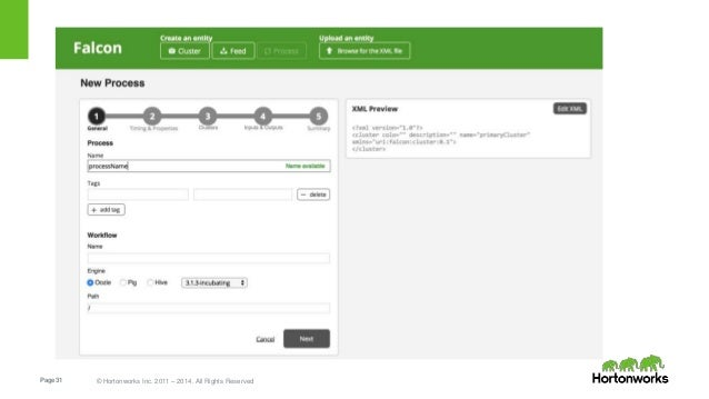 Page31 © Hortonworks Inc. 2011 – 2014. All Rights Reserved
