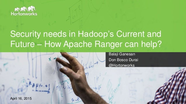 Page1 Hadoop Summit, Brussels, April 2015 Security needs in Hadoop's Current and Future – How Apache Ranger can help? Bala...