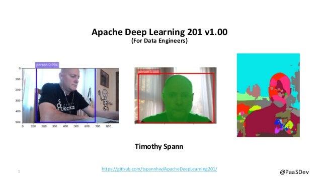 Apache Deep Learning 201