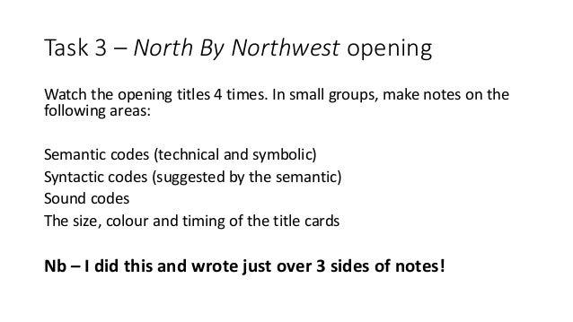 north by northwest analysis