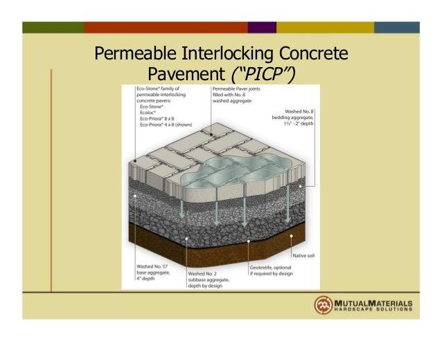 permeable interlocking concrete pavers