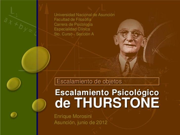 Universidad Nacional de AsunciónFacultad de FilosofíaCarrera de PsicologíaEspecialidad Clínica5to. Curso - Sección A Escal...