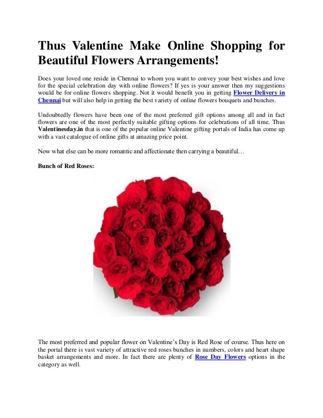 Thus Valentine Make Online Shopping For Beautiful Flowers