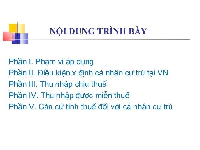 Thuế thu nhập cá nhân TNCN Slide 3