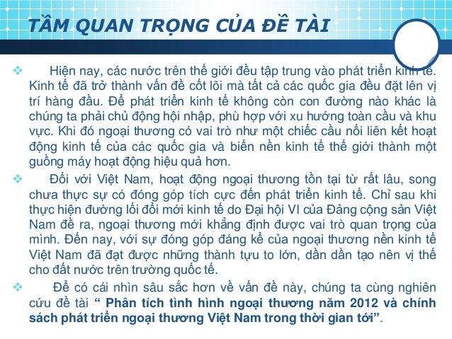 Tình hình ngoại thương Việt Nam năm 2012 Slide 3