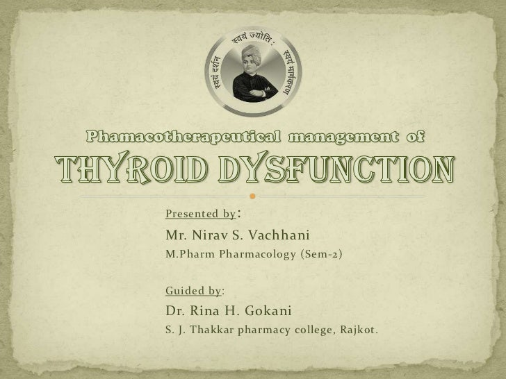 Presented by : Mr. Nirav S. Vachhani M.Pharm Pharmacology (Sem-2)   Guided by: Dr. Rina H. Gokani S. J. Thakkar pharmacy c...