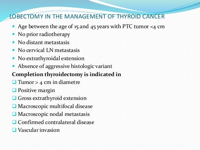NECK DISSECTION IN THYROID CANCER  Elective neck dissection is not performed for DTC of follicular cell origin  Modified...