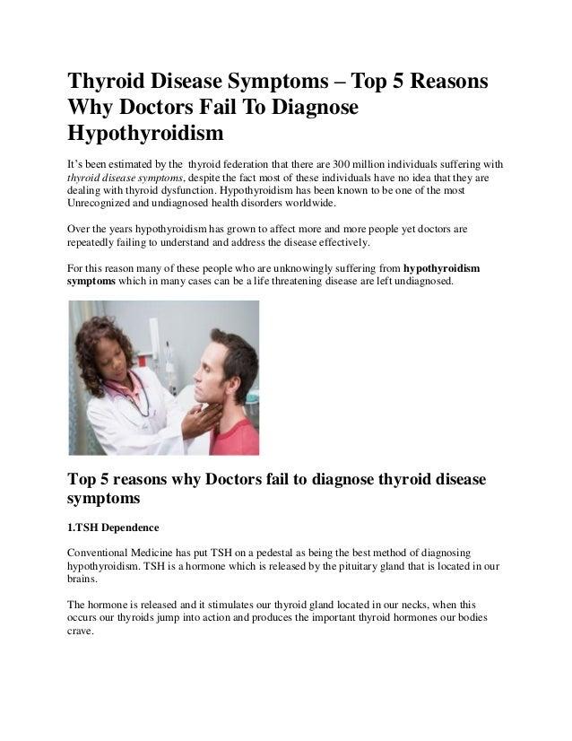 Thyroid Disease Symptoms-Top 5 Reasons Doctors Fail ...