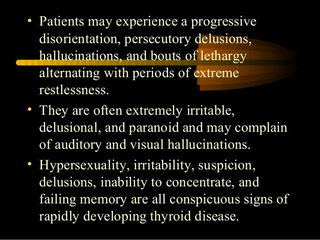Hypersexuality and hyperthyroidism