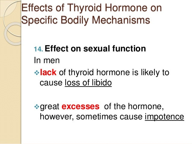 Thyroid sexual function