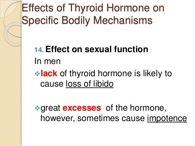 Thyroid sexual function