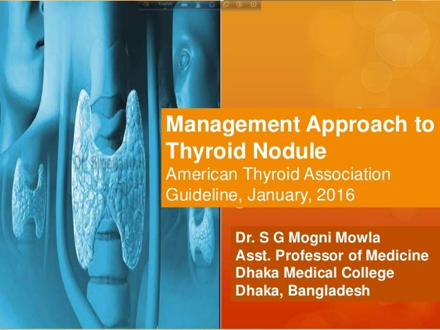 Thyroid Nodule Ata Guideline 2016