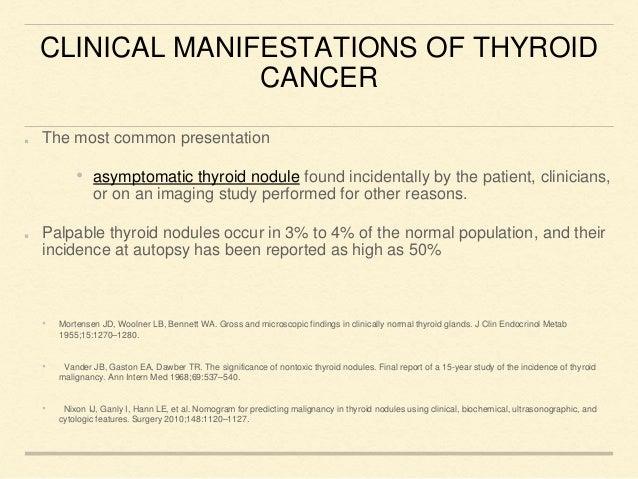 Carcinoma Thyroid Presentation