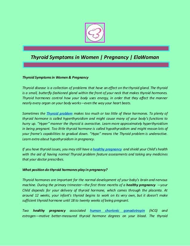 Thyroid Symptoms in Women   Pregnancy   ElaWoman