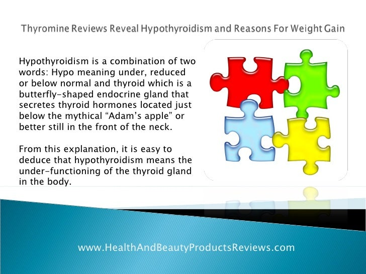 Thyromine Reviews Reveal Hypothyroidism And Reasons For Weight