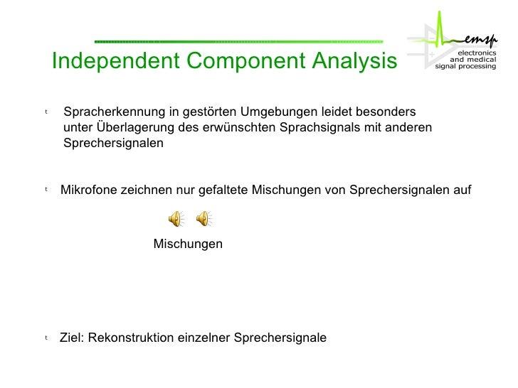 Robuste Mehrsprecher-Spracherkennung mit ICA Slide 2