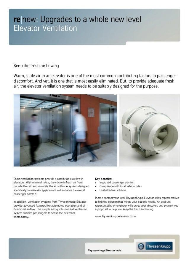 thyssenkrupp India - Elevator Ventilation