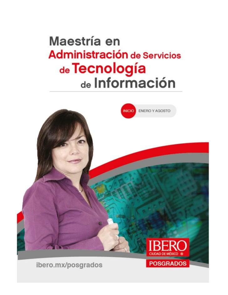 Maestría en Administración de Servicios de Tecnología de la Información Slide 1