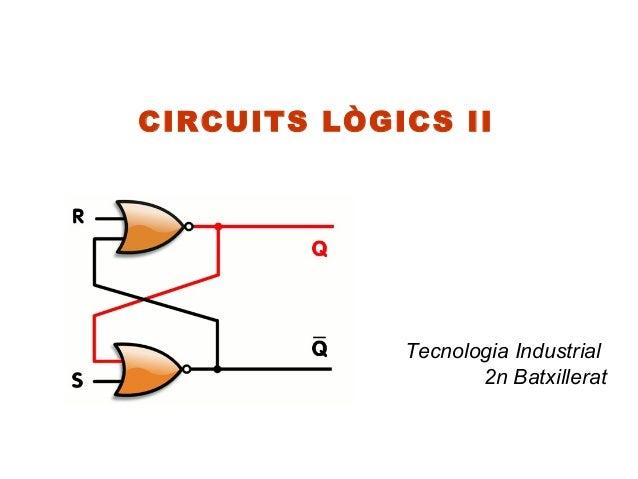 CIRCUITS LÒGICS II             Tecnologia Industrial                    2n Batxillerat