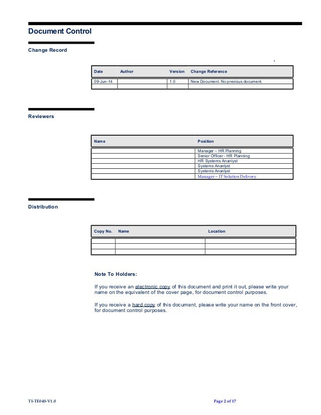 Te40 template for Software version control template
