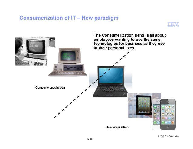 Consumerization of IT – New paradigm                                   The Consumerization trend is all about             ...