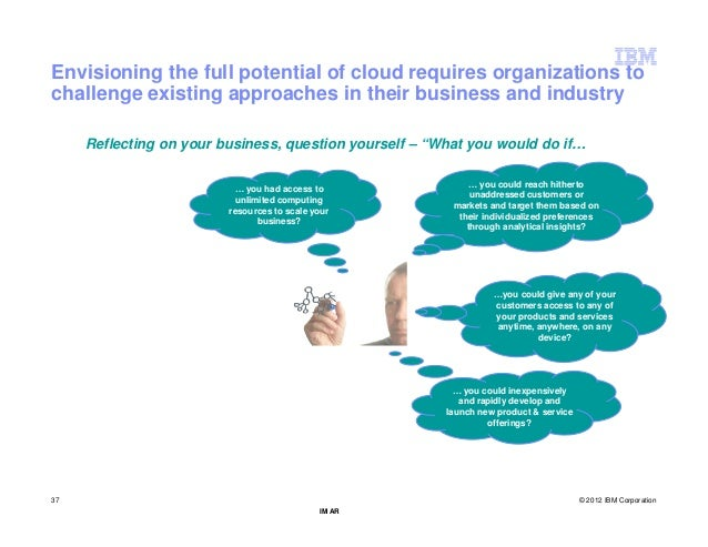 Envisioning the full potential of cloud requires organizations tochallenge existing approaches in their business and indus...